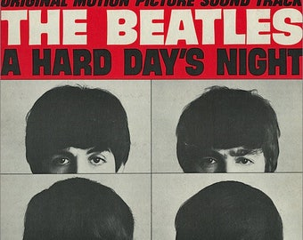 The Beatles – A Hard Day's Night 60's Soundtrack Classic Rock Vinyl LP