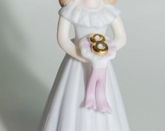 Vintage Growing Up  Birthday Girl Year 8 Figure 1982 Enesco Corp
