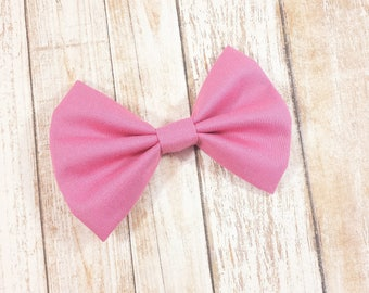 Pink Violet Fabric Hair Bow Clip or Headband / Violet Pink Bow / Magenta Pink Bow Clip / Pink Bow Headband/ Baby Bow Headband/ Pink Bow Clip
