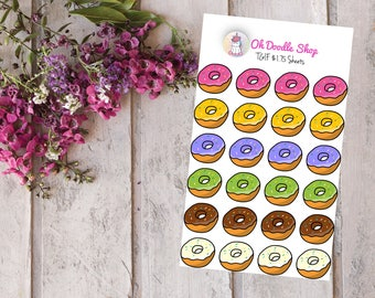 Donuts Planner Stickers Finish Orders | 2 Dollar Tuesday