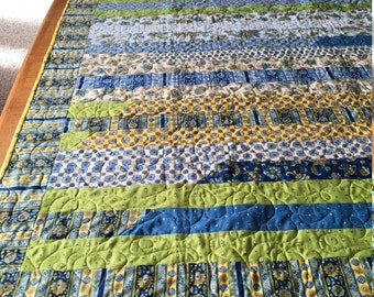 Blue yellow quilt | Etsy : blue and yellow quilt - Adamdwight.com