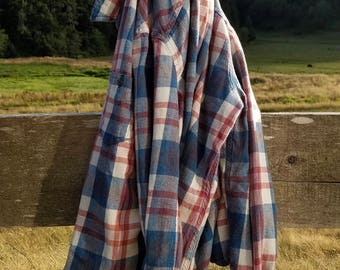 Softened Blue and Pink Flannel (sz:S)