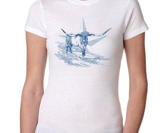 Texas, Relief T-shirt, Retro, Vintage, Hurricane Harvey, Bohemian, Steer,  Hippie, Festival, Surfing, Surfer, Tribal, Womens, Girl, Pride
