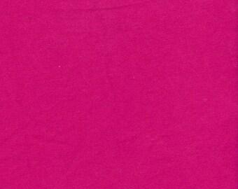 Solid FUCHSIA Medium Weight Cotton Lycra Jersey Knit Fabric [SKU:MFR2FAB001]