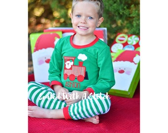Christmas Pajamas - Santa Train - Toddler Christmas Pjs