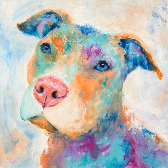 Pit Bull Art - Pit Bull Gifts, Pit Bull Print, Pit Bull Wall Art, Dog Art, Pit Bull Dog Print, Dog Lover Gift, Pop Art Dog, Pit Bull Gift.