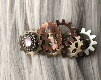 Wasteland Weekend Hair Accessories for Women Steampunk Hair Accessories Gear Hair Clip Steampunk Hair Clip for Women Womens Gift Hair Clip