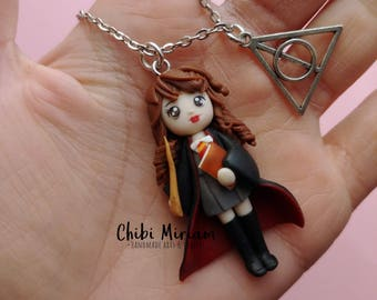 Hermione Harry Potter fimo necklace