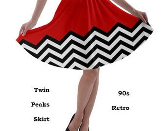 Twin Peaks Skirt, skirt, 90s, twin peaks, 90s, music, 90s films,  fashion, films, 90s tv, cult, lynch