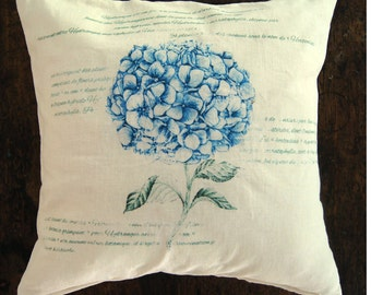 Farmhouse Pillow Cover. Floral Pillow Cover. French Pillow Cover. Fixer Upper Style. Shabby Chic Pillow.