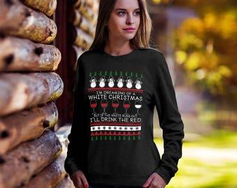 Ugly Wine Christmas Sweater, Christmas Sweater, Wine tees, Funny Christmas sweater, Wine Lovers sweater, Christmas tee, Ugly sweater party