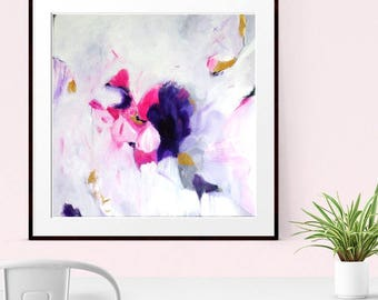 Abstract Art Print , Abstract Giclee Print , Modern Art Abstract , Minimalist Painting, PINK print, Wall Decor, Wall Art