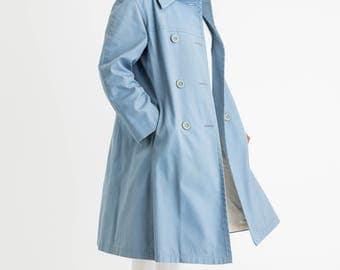 60s Pale Blue Coat L