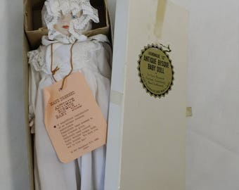 Shackman 10 Inch Porcelain Doll Bisque Head and Limbs ~ In Original Packaging ~ Reproduction Antique