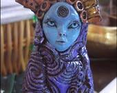Starseed Alien - Ceramic Altar Rattle