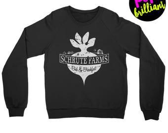 Schrute Farms Sweatshirt - Dunder Mifflin T-Shirt - The Office Shirt - Dwight Schrute - Michael Scott - Jim Halpert - The Office Sweater