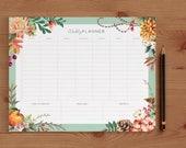 Weekly Planner Printable, Weekly Schedule, 2017 Weekly Planner Printable, 2017 Weekly Planner Book, Weekly Planner Kit 8.5x11 PDF