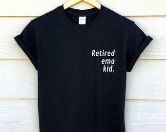 retired emo kid shirt - funny shirt - tumblr shirt