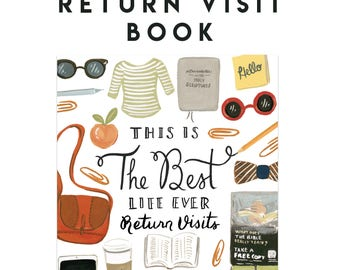 Return Visit Book - Best Life Ever - 4x6 Notebook - Pioneer School Gift, JW Baptism Gift, JW Gift, Jehovah's Witnesses