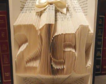 21st Birthday Gift Book Art Handmade Keepsake