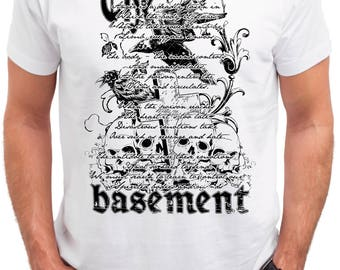 The Basement. Men's white cotton t-shirt