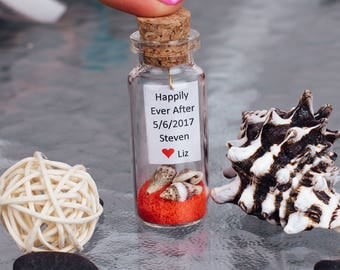 personalized wedding favors beach wedding favors message in a bottle favor wedding shower gifts bridal favors red wedding favors