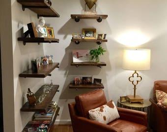 Floating Shelves, Floating Shelves, Wood Shelves, Shelves, Wall Shelves,  Rustic Shelves