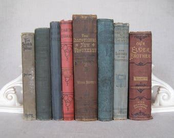 Antique Book Bundle, Shabby Book Set
