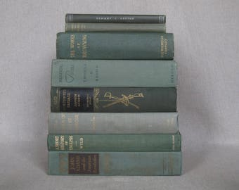 Vintage Book Bundle in Shades of Green