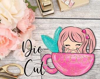 Die Cut- Cute Dolls- Coffee