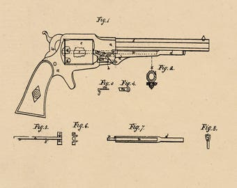 Elliot Revolver Patent #33932 dated December 17, 1861.