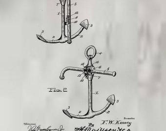 Ships Anchor Patent #697149 dated April 8, 1902.