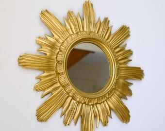 Mirror Golden Sun, vintage, miror