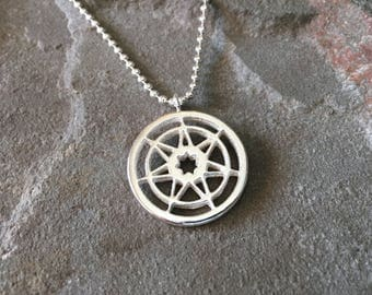 Heptagram pendant etsy seven pointed star game of thrones sterling silver necklace w ball chain heptagram aloadofball Choice Image