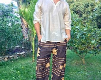 Mens Pants // Hippie Pants Mens // Mens Hippie Pants // Festival Pants  // Music Festival Clothes // Music Festival Clothing // Brown Pants
