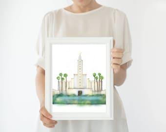 Los Angeles Temple, LA Temple, LDS LA Temple, La Lds Temple, Los Angeles, Lds Temple, Angeles Temple, Temple La, Temple Wall Art, Temple Art