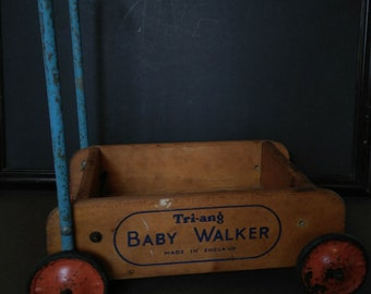 Vintage Original Tri-ang Baby Walker 1950'S
