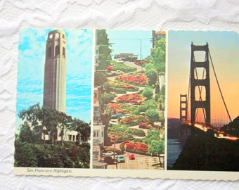 Multiview Postcard, San Francisco Postcard, California Postcard