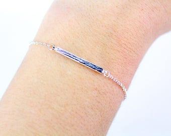 Silver Bar Bracelet, Skinny Bar Bracelet, Simple Bar Bracelet, Skinny Bracelet, Dainty Bar Bracelet, Dainty Bracelets, Minimalist Bracelet