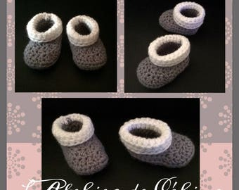 Roll Tops's crochet slippers