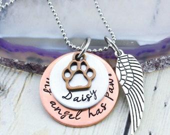 Pet Memorial Necklace - Pet Memorial Jewelry - Pet Loss Gift - Loss of Pet Jewelry - Dog Memorial - Cat Memorial - Loss of Pet Necklace