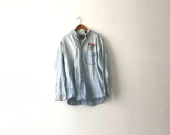 Light Washed Bae Systems Denim Shirt - L