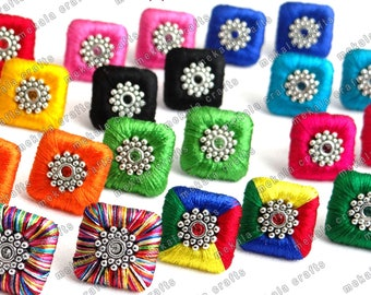 Earrings , Cute Square Stud Earrings , Square Ear Studs Available in all colours