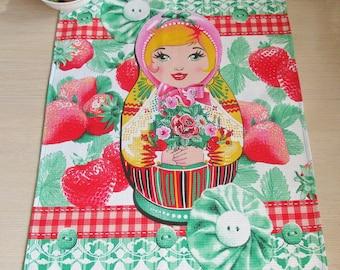 Russian Kitchen towel Tea towel Tea napkin Tea tablecloth Kitchen gift for women gift Matryoshka towel Housewarming Gift for wife gift