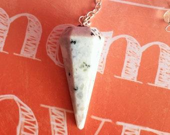 Moonstone Crystal Pendulum, Dowsing Tool  for Healing, Reiki, Chakras