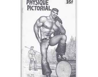 Vol.16 No.2  - Uncirculated Vintage Copy Of Physique Pictorial - Great Tom Of Finland Cover, And Harry Bush Back Cover