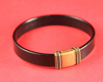 5A/7 MADE in EUROPE zamak magnetic clasp, 10mm flat cord clasp, flat leather cord magnetic clasp, magnetic clasp (TM10x2BICG) Qty1