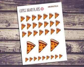 Pizza Hand Drawn Stickers