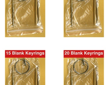 Blank Keyrings insert size 50mm x 35mm Ready for you to display your Photo's