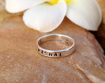 Handmade Name Ring- Sterling Silver - Handmade Jewelry